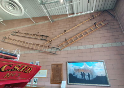 Ladder display in the Williams Fire Museum