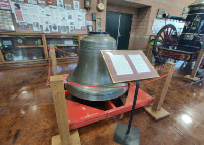 Fire bell display in the Williams Fire Museum