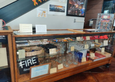 Mugs, coffee cups and water bottles available in the Williams Fire Museum