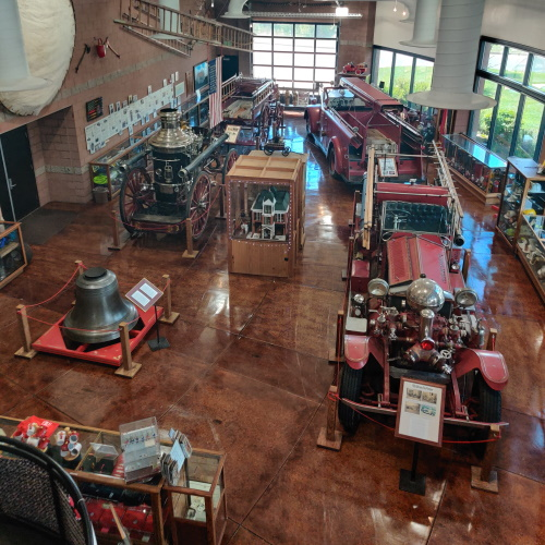 Inside the Lester L Williams Fire Museum